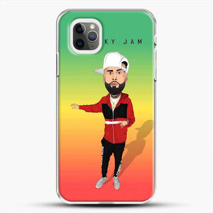 Nicky Jam Cartoon Style iPhone 11 Pro Max Case, White Plastic Case | JoeYellow.com
