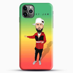 Nicky Jam Cartoon Style iPhone 11 Pro Max Case, Black Snap 3D Case | JoeYellow.com