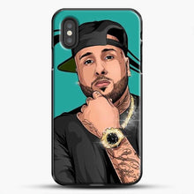 Load image into Gallery viewer, Nicky Jam Mundial iPhone XS Case, Black Plastic Case | JoeYellow.com