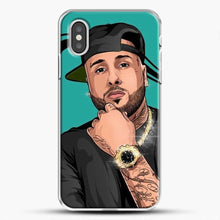 Load image into Gallery viewer, Nicky Jam Mundial iPhone XS Case, White Plastic Case | JoeYellow.com