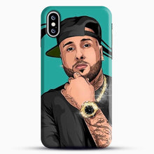 Load image into Gallery viewer, Nicky Jam Mundial iPhone XS Case, Black Snap 3D Case | JoeYellow.com