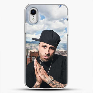 Nicky Jam Scenery Montain iPhone XR Case, White Plastic Case | JoeYellow.com