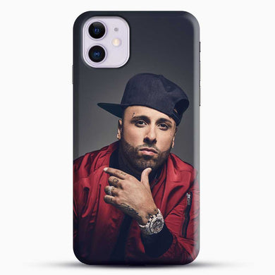 Nicky Jam Wear Red Jacket And Black Hat iPhone 11 Case, Black Snap 3D Case | JoeYellow.com