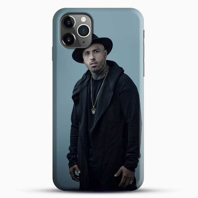 Nicky Jam Wearing Black Clothes iPhone 11 Pro Max Case, Black Snap 3D Case | JoeYellow.com
