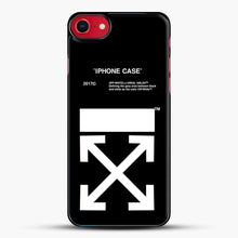 Load image into Gallery viewer, Off White Virgil Abloh iPhone SE 2020 Case, Black Plastic Case | JoeYellow.com