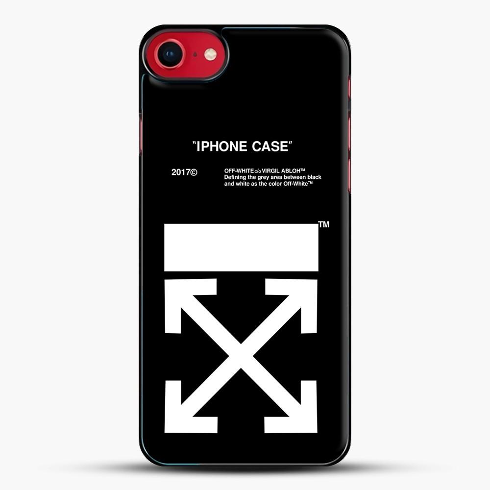 Off White Virgil Abloh iPhone SE 2020 Case, Black Plastic Case | JoeYellow.com