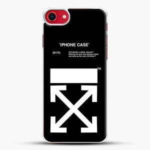 Off White Virgil Abloh iPhone SE 2020 Case, White Plastic Case | JoeYellow.com