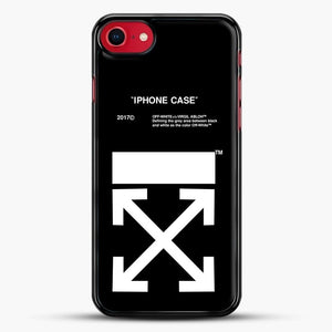 Off White Virgil Abloh iPhone SE 2020 Case, Black Rubber Case | JoeYellow.com