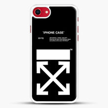 Load image into Gallery viewer, Off White Virgil Abloh iPhone SE 2020 Case, White Rubber Case | JoeYellow.com