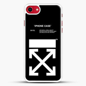 Off White Virgil Abloh iPhone SE 2020 Case, White Rubber Case | JoeYellow.com