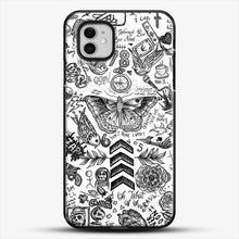 Load image into Gallery viewer, One Direction Tattoos iPhone 11 Case, Black Plastic Case | JoeYellow.com