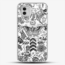 Load image into Gallery viewer, One Direction Tattoos iPhone 11 Case, White Plastic Case | JoeYellow.com