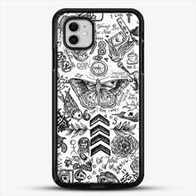 Load image into Gallery viewer, One Direction Tattoos iPhone 11 Case, Black Rubber Case | JoeYellow.com