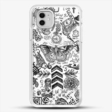 Load image into Gallery viewer, One Direction Tattoos iPhone 11 Case, White Rubber Case | JoeYellow.com