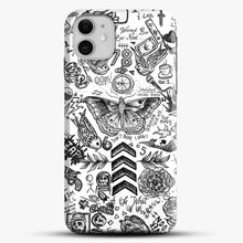 Load image into Gallery viewer, One Direction Tattoos iPhone 11 Case, Black Snap 3D Case | JoeYellow.com