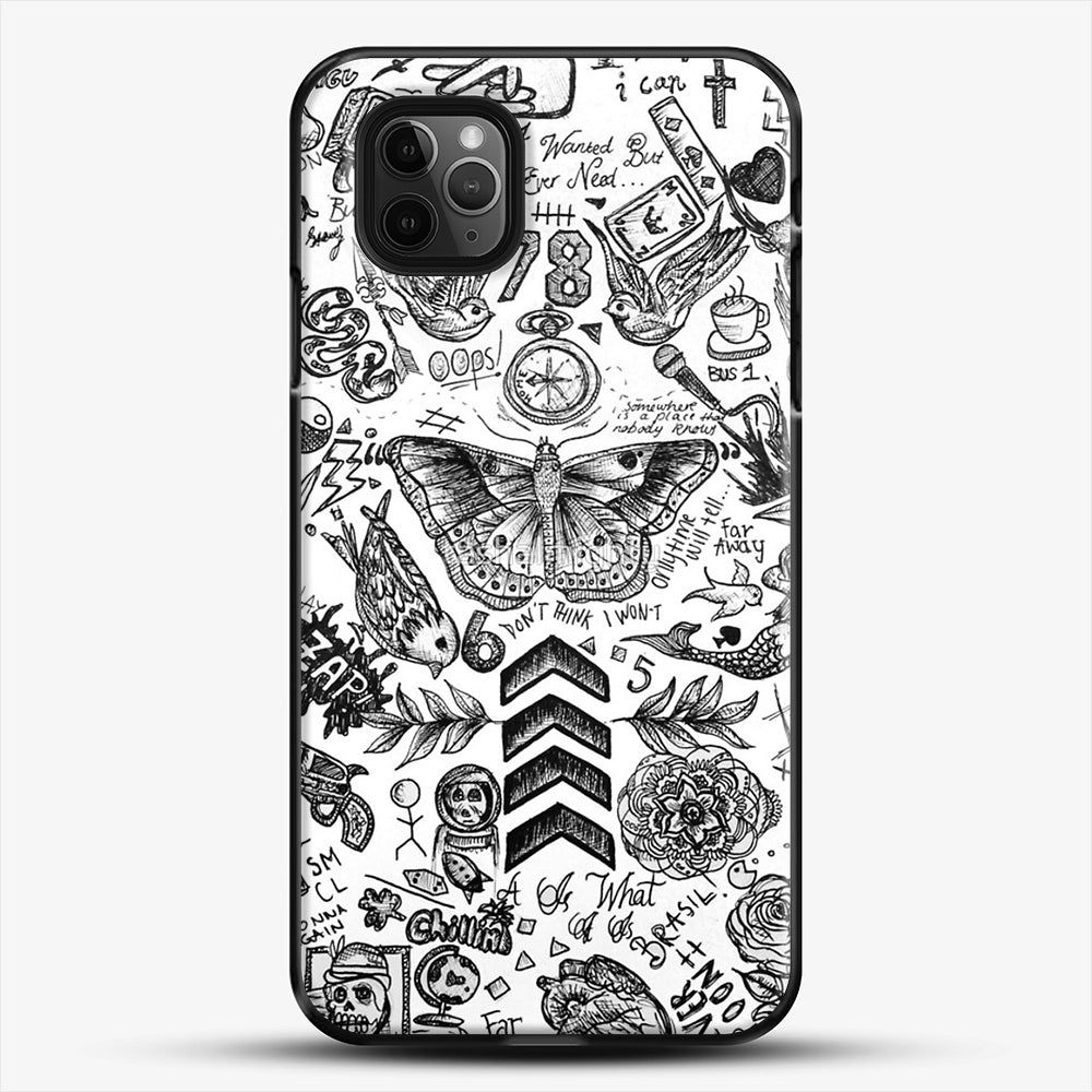 One Direction Tattoos iPhone 11 Pro Max Case, Black Plastic Case | JoeYellow.com