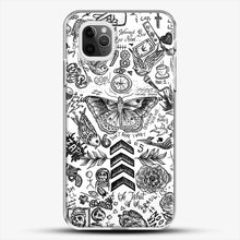 Load image into Gallery viewer, One Direction Tattoos iPhone 11 Pro Max Case, White Plastic Case | JoeYellow.com