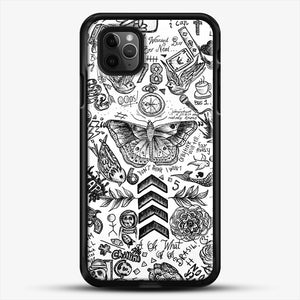 One Direction Tattoos iPhone 11 Pro Max Case, Black Rubber Case | JoeYellow.com