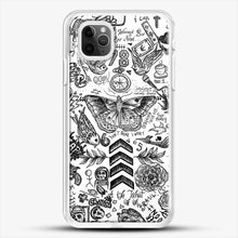 Load image into Gallery viewer, One Direction Tattoos iPhone 11 Pro Max Case, White Rubber Case | JoeYellow.com