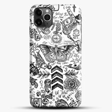 Load image into Gallery viewer, One Direction Tattoos iPhone 11 Pro Max Case, Black Snap 3D Case | JoeYellow.com