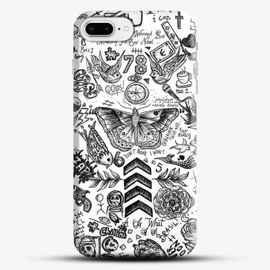 One Direction Tattoos iPhone 8 Plus Case, Black Snap 3D Case | JoeYellow.com