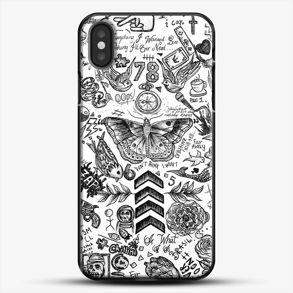 One Direction Tattoos iPhone X Case, Black Plastic Case | JoeYellow.com