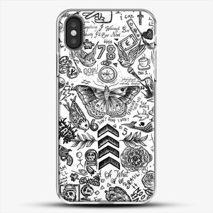 One Direction Tattoos iPhone X Case, White Plastic Case | JoeYellow.com
