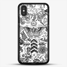 Load image into Gallery viewer, One Direction Tattoos iPhone X Case, Black Rubber Case | JoeYellow.com