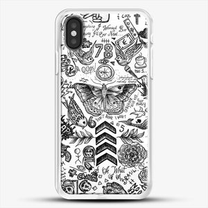 One Direction Tattoos iPhone X Case, White Rubber Case | JoeYellow.com
