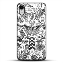 Load image into Gallery viewer, One Direction Tattoos iPhone XR Case, Black Plastic Case | JoeYellow.com