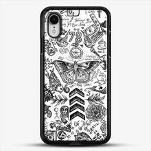 Load image into Gallery viewer, One Direction Tattoos iPhone XR Case, Black Rubber Case | JoeYellow.com