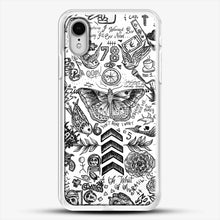 Load image into Gallery viewer, One Direction Tattoos iPhone XR Case, White Rubber Case | JoeYellow.com
