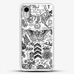 One Direction Tattoos iPhone XR Case, White Rubber Case | JoeYellow.com