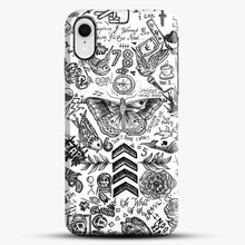 Load image into Gallery viewer, One Direction Tattoos iPhone XR Case, Black Snap 3D Case | JoeYellow.com