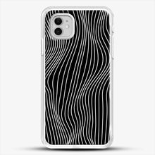Load image into Gallery viewer, Optical Illusion Minimal Lines iPhone 11 Case, White Rubber Case | JoeYellow.com