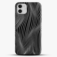 Load image into Gallery viewer, Optical Illusion Minimal Lines iPhone 11 Case, Black Snap 3D Case | JoeYellow.com