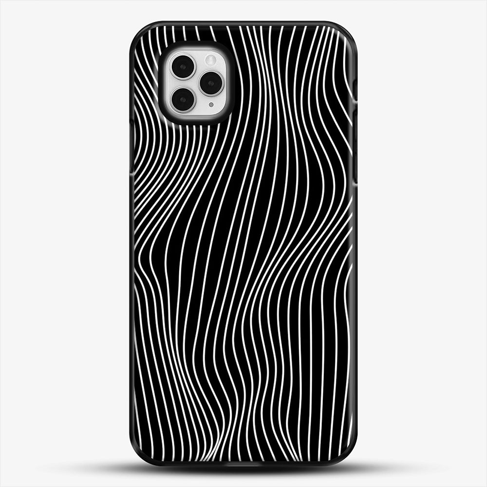 Optical Illusion Minimal Lines iPhone 11 Pro Case, Black Plastic Case | JoeYellow.com