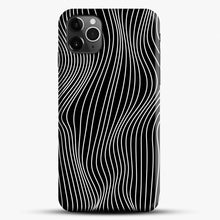 Load image into Gallery viewer, Optical Illusion Minimal Lines iPhone 11 Pro Max Case, Black Snap 3D Case | JoeYellow.com