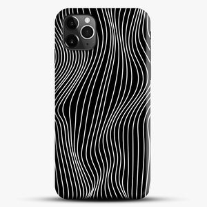 Optical Illusion Minimal Lines iPhone 11 Pro Max Case, Black Snap 3D Case | JoeYellow.com