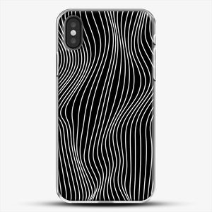 Optical Illusion Minimal Lines iPhone X Case, White Plastic Case | JoeYellow.com
