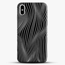 Load image into Gallery viewer, Optical Illusion Minimal Lines iPhone X Case, Black Snap 3D Case | JoeYellow.com