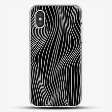 Load image into Gallery viewer, Optical Illusion Minimal Lines iPhone XS Case, White Plastic Case | JoeYellow.com