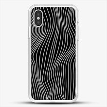 Load image into Gallery viewer, Optical Illusion Minimal Lines iPhone XS Case, White Rubber Case | JoeYellow.com