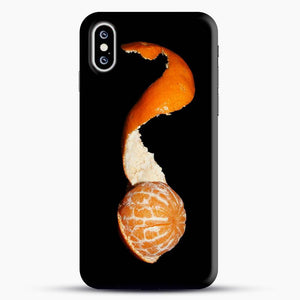 Oranges On Black Separates Skin iPhone XS Case