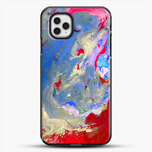 Load image into Gallery viewer, Paint Marbling iPhone 11 Pro Case, Black Plastic Case | JoeYellow.com