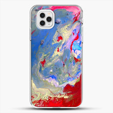 Load image into Gallery viewer, Paint Marbling iPhone 11 Pro Case, White Plastic Case | JoeYellow.com