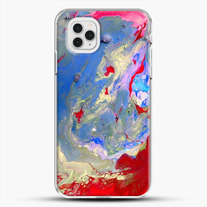 Paint Marbling iPhone 11 Pro Case, White Plastic Case | JoeYellow.com