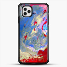 Load image into Gallery viewer, Paint Marbling iPhone 11 Pro Case, Black Rubber Case | JoeYellow.com