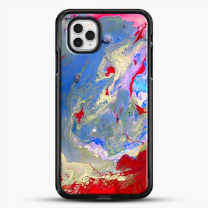 Paint Marbling iPhone 11 Pro Case, Black Rubber Case | JoeYellow.com