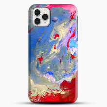 Load image into Gallery viewer, Paint Marbling iPhone 11 Pro Case, Black Snap 3D Case | JoeYellow.com